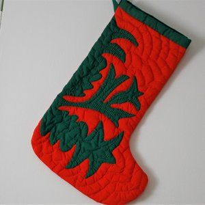 Quilted Handmade Christmas Stocking